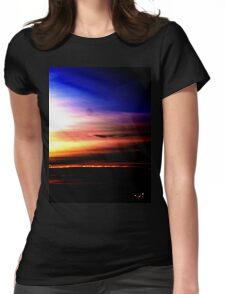 Northern Sunset Womens Fitted T-Shirt