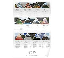 2015 Calendar - Nature Triangles Poster