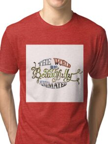 Beautiful World Typography Tri-blend T-Shirt