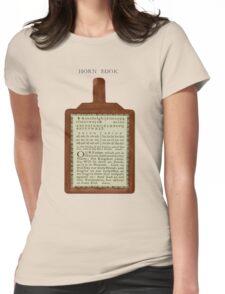 An Ancient Horn Book. Womens Fitted T-Shirt