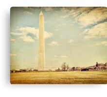 Washington Monument in Winter Canvas Print