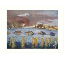 Bedford Town Bridge Art Print
