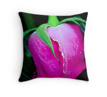 One pink rose Throw Pillow