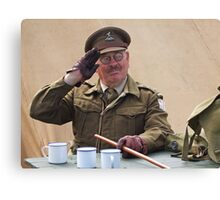 """You Stupid Boy"" (Captain Mannering - Dads Army) Canvas Print"