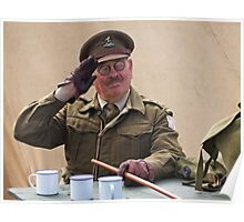 """You Stupid Boy"" (Captain Mannering - Dads Army) Poster"