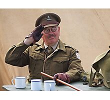 """""""You Stupid Boy"""" (Captain Mannering - Dads Army) Photographic Print"""