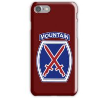 10th Mountain Division iPhone Case/Skin