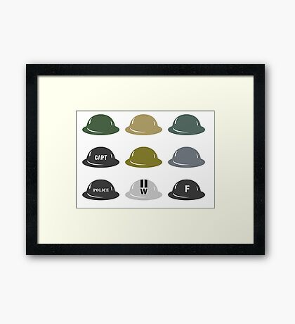 British Helmet (Brodie) of WW2 Framed Print
