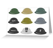 British Helmet (Brodie) of WW2 Greeting Card