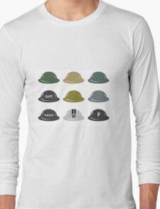 British Helmet (Brodie) of WW2 Long Sleeve T-Shirt