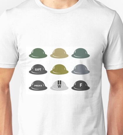 British Helmet (Brodie) of WW2 Unisex T-Shirt