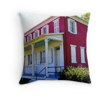 Lockhouse on the Susquehanna and Tidewater Canal Throw Pillow