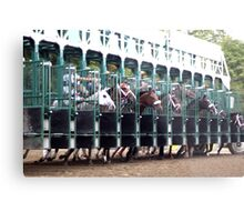 ... and they're off! - Saratoga Race Course NY Metal Print