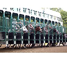 ... and they're off! - Saratoga Race Course NY Photographic Print