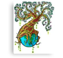Green Valentine Canvas Print