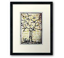 Treeology Framed Print