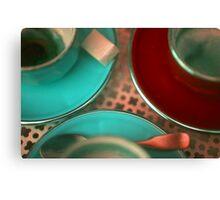 Cups & Saucer Sugar Cube Canvas Print