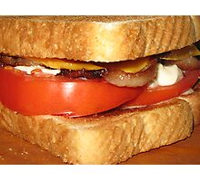 Toasted Bacon, Tomato & Cheese Mmmmmmmmmmmmmmmmmmmmmmmmmmmmmm.....Yum! Photographic Print