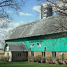 green barn by Lynne Prestebak