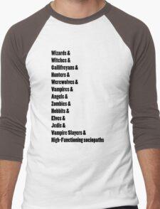 Fandoms Men's Baseball ¾ T-Shirt