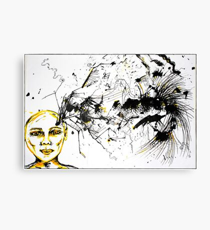 As my thoughts exploded on the page, you left me... Canvas Print
