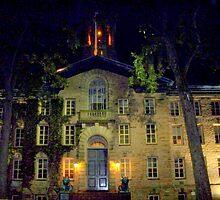 Night  Campus  Princeton  by Rick  Todaro