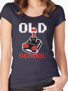 Retro Old School Gamer Women's Fitted Scoop T-Shirt