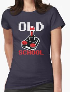 Retro Old School Gamer Womens Fitted T-Shirt