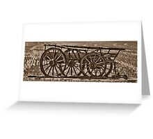 Old Wagon Greeting Card