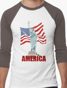 America Men's Baseball ¾ T-Shirt