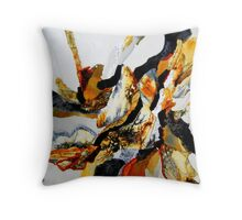 Silver Stonescape Throw Pillow