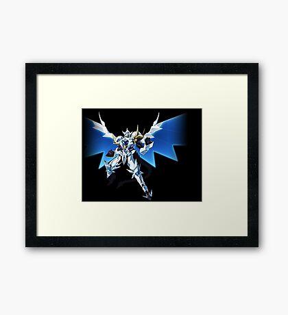 High School DXD Born Vali Lucifer White Dragon Framed Print