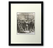 Fraud of the Century USA election 1876 Framed Print