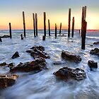 Pole's of Pt Willunga Jetty by Dale Allman