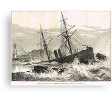 Wreck of St Lawrence on Paternoster Reef Canvas Print
