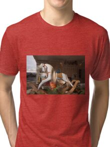 Rocking horse at the Chelsea Flower Show Tri-blend T-Shirt