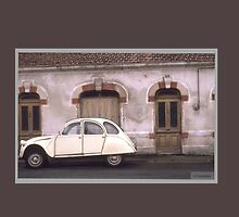 Citroen French Antique Car with House in France by Tamarra