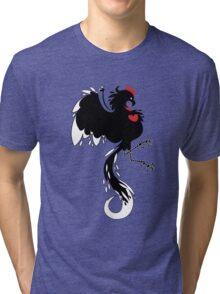Love Cock Black Tri-blend T-Shirt
