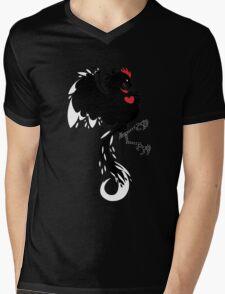 Love Cock Black Mens V-Neck T-Shirt
