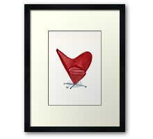 The Heart cone chair - Watercolor painting  Framed Print