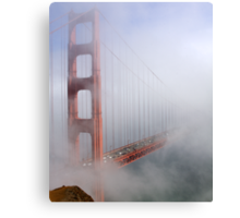 on a foggy day in color Canvas Print