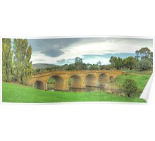 Spanning Time C1825  (The Second Cut) - Richmond Bridge, Tasmania - The HDR Experience Poster