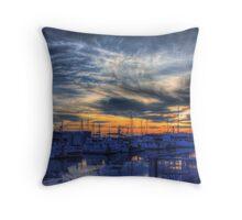 Squalicum Harbor Throw Pillow