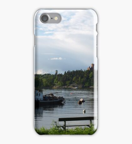 Stay here and relax iPhone Case/Skin