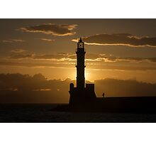 Sunset at Chania Old Town Photographic Print