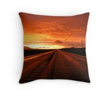 Red Road Throw Pillow
