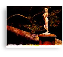 Statue at Night Canvas Print