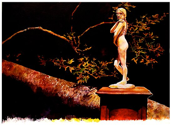 Statue at Night by meganelizabeth