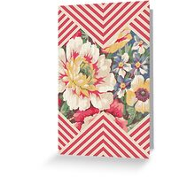 Candy Floral Chevron Greeting Card