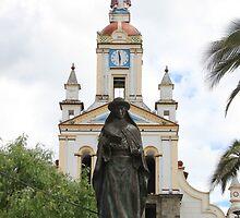 Statue of Saint Anne Next to a Church by rhamm